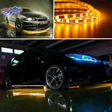 Universal Amber LED Strip Under Car Underglow Underbody System Neon Light Kit Q
