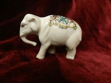 """VINTAGE  """" PLYMOUTH """" CRESTED WARE ELEPHANT by DEVONIA ART CHINA"""