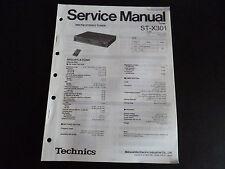 Original Service Manual Technics StereoTuner ST-X 301