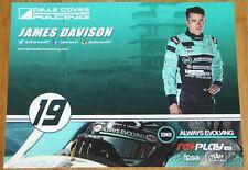 2015 James Davison Always Evolving Honda Dallara Indy 500 Indy Car postcard