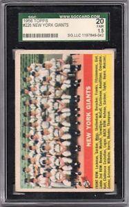 1956 Topps #226 New York Giants - SGC Fair (1.5, 20)