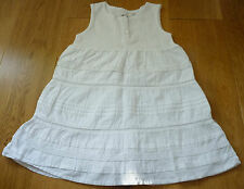 Beautiful White 100% Cotton Dress with Lace Trim, Size 9-12 mths, Hardly Worn!