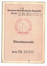 DDR Ausweis Bezirk Dresden Rat der Stadt Görlitz Dienstausweis 1955 !
