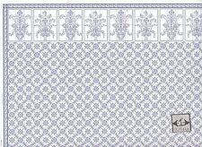 Brodnax Prints Leslie Blue 1KT603 Kitchen Tile wallpaper dollhouse 1/12 scale