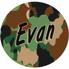 Camouflage Round Mouse Pad Personalize Gifts Any Name or Text Camo Hunting
