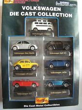 MAISTO VOLKSWAGEN COLLECTION VW -COX  BEETLE BULLY T1 JETTA GOLF GTI  1/60