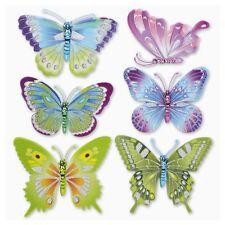 3D Wandsticker Wandtattoo Schmetterlinge Butterfly Glitzereffekt Kinderzimmer
