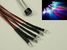 W5 - 5 Stück LED 3mm RGB mit Kabel für 12-19V fertig verkabelt Rainbow schnell