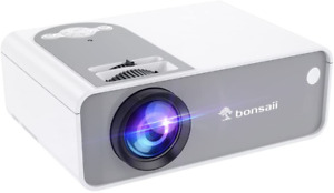 Movie Projector for Home Use, Bonsaii 1080P Supported TV Projector with Speaker