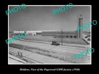OLD 8x6 HISTORICAL PHOTO OF OF HOLDEN GMH PAGEWOOD FACTORY SYDNEY NSW c1940s
