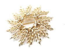Lisner Vintage 1960s Large Gold Tone Brooch (Bridal Jewellery)