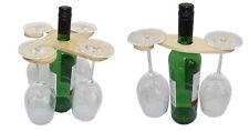 Weinglashalter aus Holz für 2-4 Gläser Weinservier-ständer Aufhänger Wine Caddy