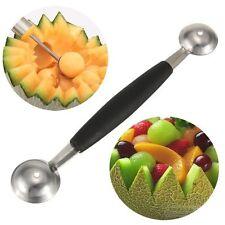 Double-end Mango Melon Baller Scoop Fruit Spoon Ice Cream Dessert Sorbet Tool