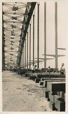 OUVRAGE D'ART c. 1930 - Construction Pont Métallique Ouvriers  - PP120
