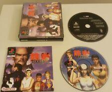TEKKEN 2 CON RARA DEMO. PS1 gioco, Big Box, BLACK LABEL. (Playstation One, PAL)