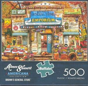 Aimee Stewart 500Pc  Jigsaw Puzzle Brown's General Store 1 Piece Missing