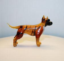 Art Blown Glass Murano Figurine Glass Dog Staffordshire Bull Terrier
