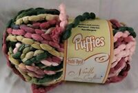 Needle Crafters Puffies Yarn Knitting Variegated Multi Dyed Crochet Knit  Bulky