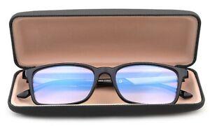Blue Ray Blocking Reading Glasses for Men Light Weight Rectangular Frame w/ case