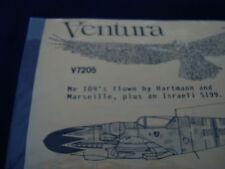 ME 109 V7205 VENTURA DECALS 1:72