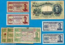Mauritius KGVI 25 Cents, 50 Cents, 1 Rupee Rs 5 RARE ISSUES Choose Your Note
