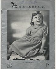 Vintage Knitting Book, Patterns - Patons Knitting Book 297 -1940s