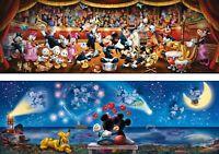Disney 2 x 1000 piece Panorama Jigsaws Mickey & Minnie Mouse - Double Pack