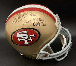 Patrick Willis SIGNED SF 49ers F/S Helmet +07 First DP ITP PSA/DNA AUTOGRAPHED