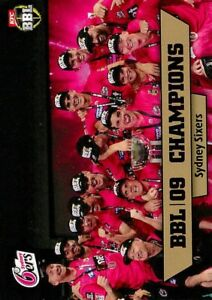 ✺New✺ 2019 2020 SYDNEY SIXERS BBL Cricket Card CHAMPIONS