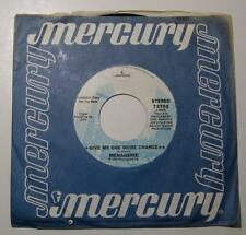 MENAGERIE - Give Me One More Chance / Roller Coaster Weekend (45 RPM,1975) VG+