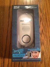 Pyle Waterproof Wireless Bluetooth Speaker, Speaker Phone, Rechargeable White
