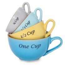 All'asta Measuring Cups Mugs Set Stoneware Ceramic Pottery  Nesting 4 piece