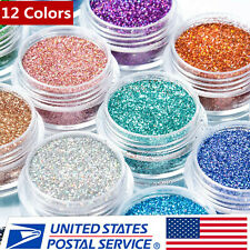 Nail Art Sequins 12 Color Nail Supplies Glitter Sequins Eye Shadow Stage Makeup