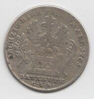 Münze 20 Kreuzer 1765 CLR Brandenburg Bayreuth Friedrich Christian Preussen
