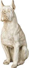 "Boxer Dog Statue Sculpture 30"""
