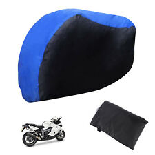 XL Waterproof Motorcycle Cover Outdoor Motorbike Bike Rain Dust Carry Bag Blue