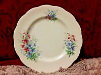 "Royal Albert Bone China 8"" Salad Plate Friendship Larkspur Floral Gold Rim"