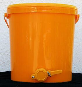 Honig-Abfülleimer 25 kg Quetschhahn Honig abfüllen Honigeimer Honigernte Imkerei
