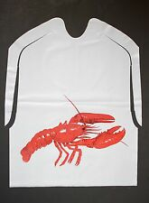 25 Pack Of Disposable Plastic Lobster Bibs Free Shipping