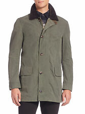 995 New BURBERRY Bartlett Jacket,Coat,M,Olive,Plaid,Patch Suede,Remove Vest,NWT