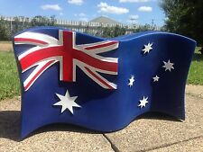 BLUE AUSTRALIAN FLAG SHOP FRONT AMPOL BOWSER TOP PETROL LIGHT UP  SIGN ARMY NAVY