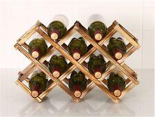 6 / 10 Bottle Red Wine Rack Holder Mount Bar Display Shelf Folding Wood AU