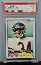 1981 TOPPS # 400 Walter Payton PSA 8 NM-MT # 47171541  NFC ALL-PRO CARD !!!