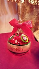 GANZ personalized Christmas ornament with name Joseph
