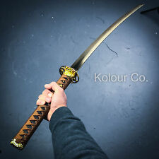 "40"" GOLD DAMASCUS Full Tang SAMURAI KATANA SWORD Japanese Ninja w/ SHEATH"