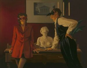 Jack Vettriano - The Sparrow and the Hawk - Limited Edition Print - Signed 52,7x