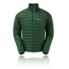 Montane Mens Featherlite Down Micro Jacket Top Green Sports Outdoors Full Zip