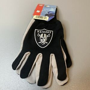 WindCraft NFL Oakland Raiders Adult Sport Utility Gloves One Size Fits Most