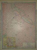 Vintage 1890 MINNEAPOLIS MAP Old Antique Original Atlas Map 041718