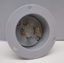 Arrow Hart 6405 Twist-Lock Locking Flanged Inlet Plug 20A 125/250V 3P 4W L14-20P